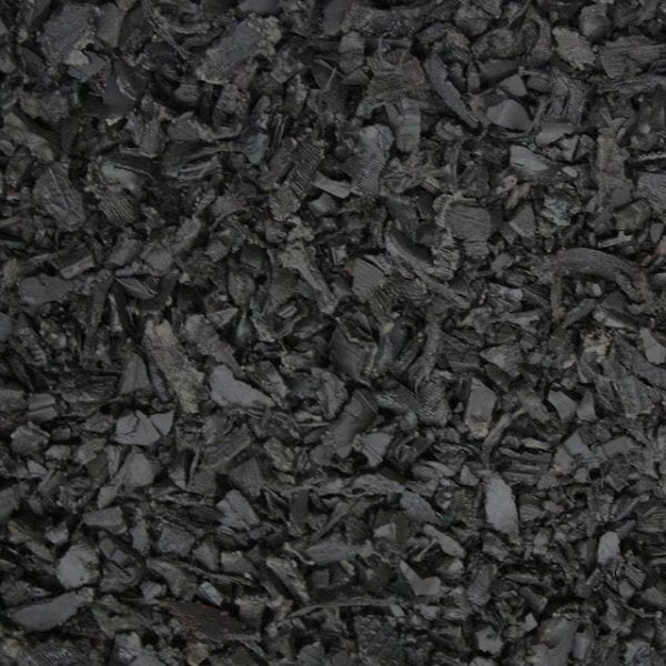 Black Shredded Rubber Mulch