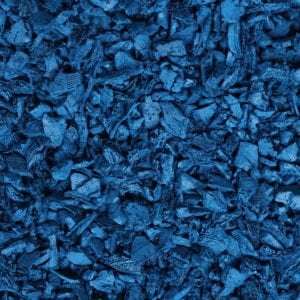 Blue Shredded Rubber Mulch