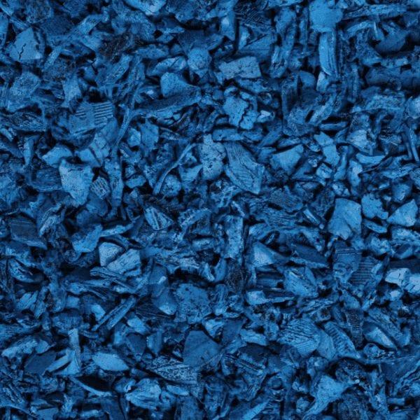 Blue Shredded Rubber Mulch