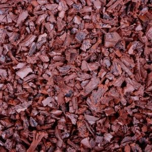 Red Shredded Rubber Mulch